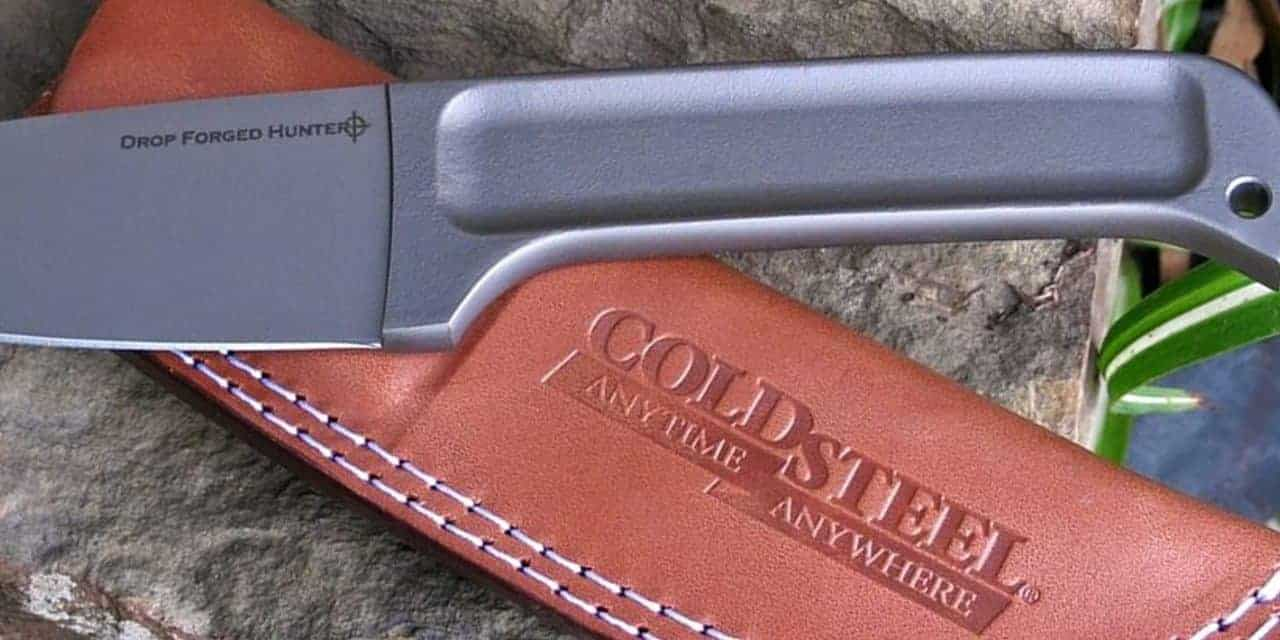 cold steel drop forged hunter knife and sheath