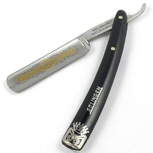 Buy Giardo  GI1055 5/8'' Straight Razor, Black / Etched at Country Knives.