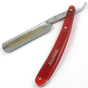 Buy Giardo  GI1060 5/8'' Straight Razor, Red / Etched at Country Knives.