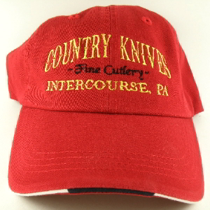 Buy Country Knives  HAT1 Baseball Hat, Red at Country Knives.