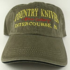 Buy Country Knives  HAT6 Baseball Hat, Olive at Country Knives.