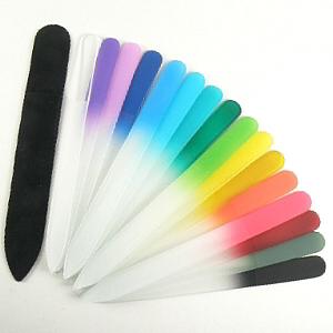 Buy Mont Bleu  MBMSB Glass Nail File, Medium / Sky Blue at Country Knives.