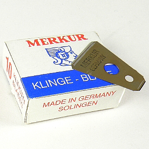 Buy Merkur  MK908B Moustache Razor Blades, 10 per Pack at Country Knives.