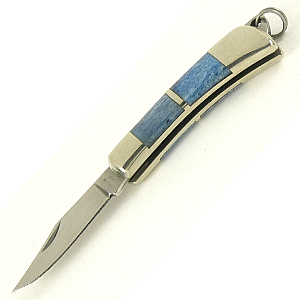 Buy Maserin  MSR707-OBL Miniature Pocket Knife - 7cm / Blue Bone at Country Knives.