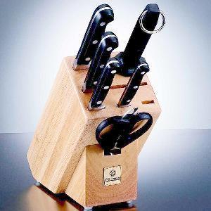 Buy Mundial  MUN5100-7 Block Set, Basic Black at Country Knives.