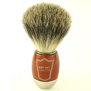 Buy Parker  PRSWCPB Shaving Brush, Schima & Chrome / Pure Badger at Country Knives.