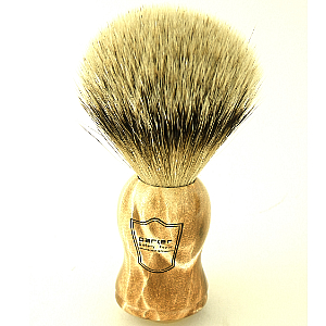 Buy Parker  PRWHST Shaving Brush, Burl Wood / Silver Tip at Country Knives.