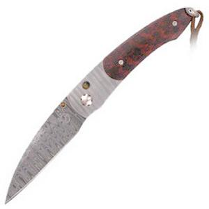 Buy William Henry  WH-B7-DSD Westcliff, Ladder' Damascus / Snakewood / 'Ladder' Damascus at Country Knives.