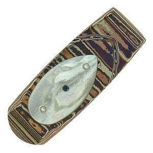 Buy William Henry  WHM1WMP Money Clip, Mother of Pearl / Mokume Gane at Country Knives.