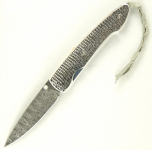 Buy William Henry  WHT10RIPPLE Lancet - Ladderback' Damascus / Sterling Silver Granulation at Country Knives.