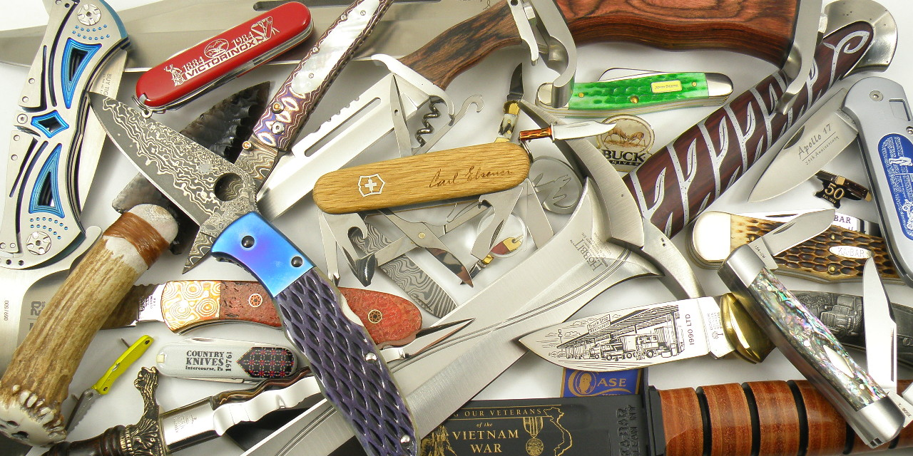 Assorted knife blades and handles