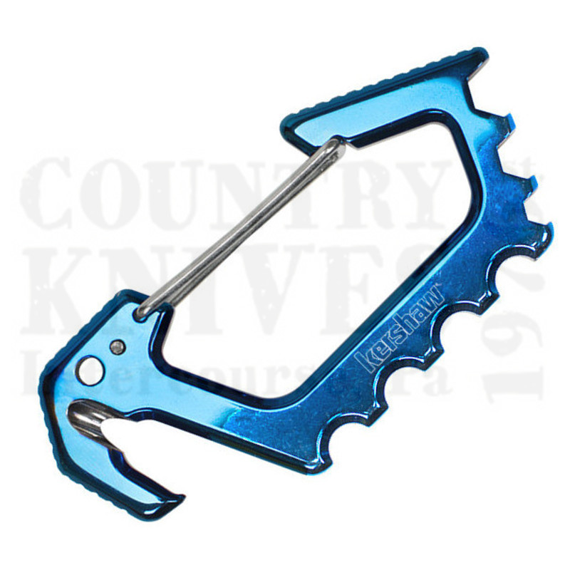 Buy Kershaw  K1150BLU Jens Carabiner - Blue TiCN at Country Knives.