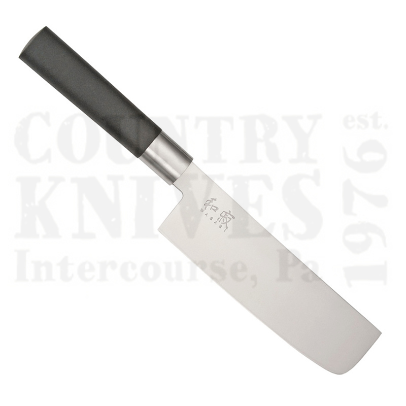 Buy Kai  K6716N 165mm Nakiri - Black Wasabi at Country Knives.