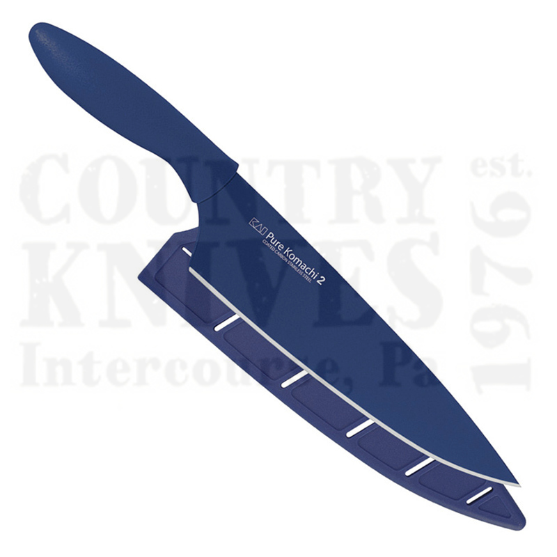 """Buy Kai  KAB5076 8"""" Chef's Knife - Dark Blue at Country Knives."""