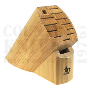 Buy Kai  KDM0830 13 Slot Block - Bamboo at Country Knives.