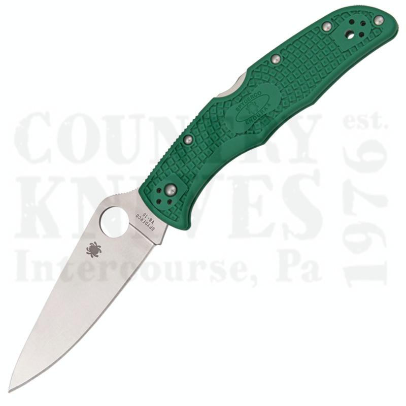 Buy Spyderco  C10FPGR Endura4 - GREEN FRN / PlainEdge at Country Knives.