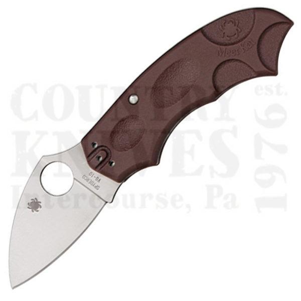 Buy Spyderco  C64JPBRG MeerKat, BURGUNDY FRN / PlainEdge at Country Knives.