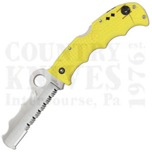 Buy Spyderco  C79PSYL Assist Salt - YELLOW FRN / Carbide Tip at Country Knives.