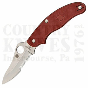 Buy Spyderco  C94PSMR3 UK Pen - Lightweight - MAROON FRN / CombinationEdge at Country Knives.