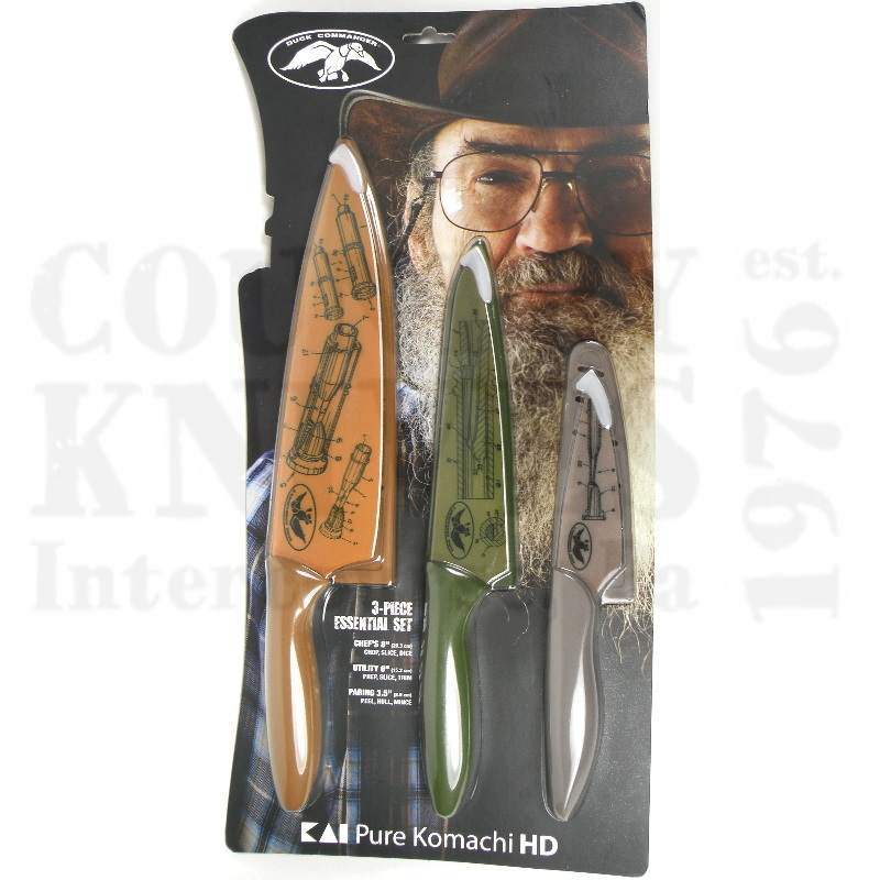 Buy Kai  DHKS0310 HD Three Piece Set - Duck Commander at Country Knives.