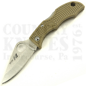 Buy Spyderco  LTNP3H1 H-1 LadyBug3, TAN FRN / PlainEdge at Country Knives.