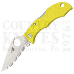 Buy Spyderco  LYLS3 H-1 LadyBug3, YELLOW FRN / SpyderEdge at Country Knives.