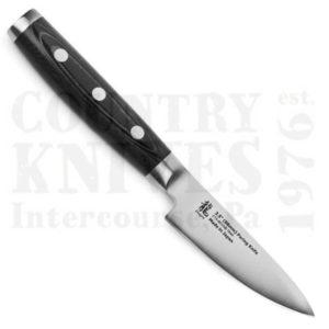"""Buy Yaxell  YX36903 3½"""" Paring Knife, CTS BD1N / Black Micarta at Country Knives."""