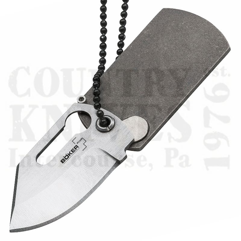 Buy Böker Böker Plus B-01BO210 Dog Tag Knife - 440C / Titanium at Country Knives.
