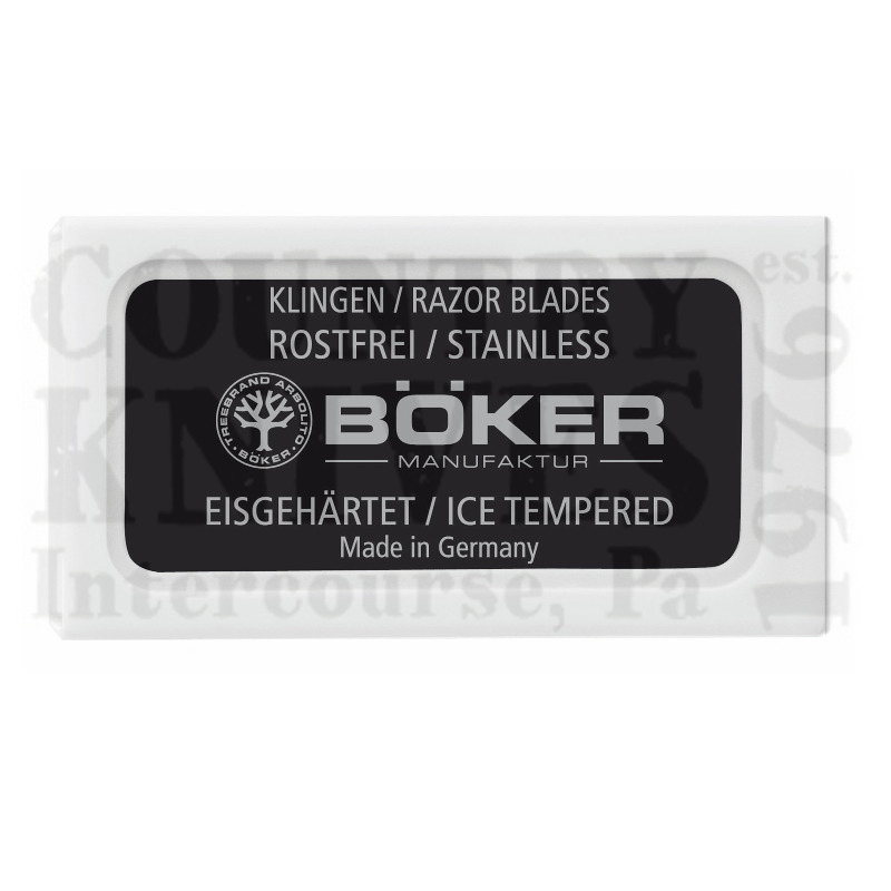 Buy Böker  04BO160 Razolution - Ice Hardened / 10 per Pack at Country Knives.