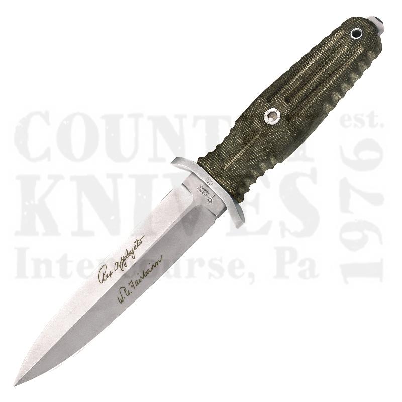 Buy Böker  B-120545 Applegate-Fairbairn - Green Canvas Micarta at Country Knives.