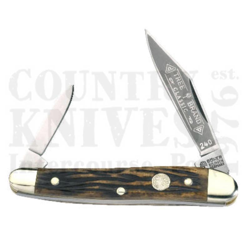 Buy Böker  B-240GRC Serpentine - Grand Canyon Bone at Country Knives.