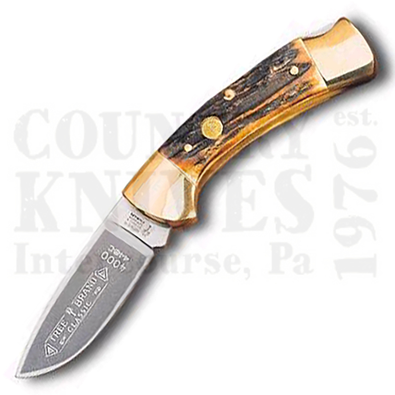Buy Böker  B-4000 Lockback - Drop Point / India Stag at Country Knives.