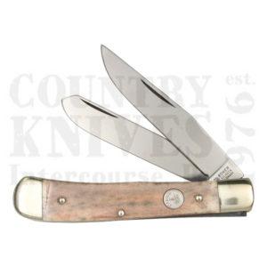 Buy Böker  B-2525SB Trapper, Smooth Tan Bone at Country Knives.