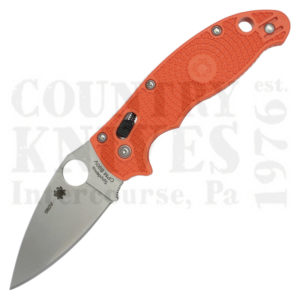 Buy Spyderco  C101POR2 Manix2, Orange FRCP / PlainEdge at Country Knives.