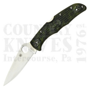 Buy Spyderco  C10ZFPGR Endura4 - Green Zome FRN / PlainEdge at Country Knives.