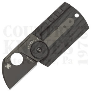 Buy Spyderco  C188CFBBKP Dog Tag Folder, TiCN / Carbon Fiber at Country Knives.