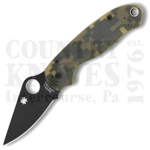Buy Spyderco  C223GPCMOBK Para 3 - W-DLC / Camouflage / PlainEdge at Country Knives.
