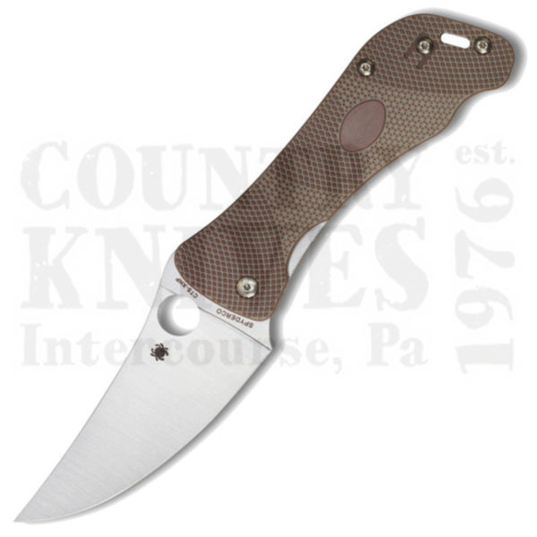 Buy Spyderco  C225GP Hundred Pacer, Brown & Tan G-10 / CTS XHP at Country Knives.