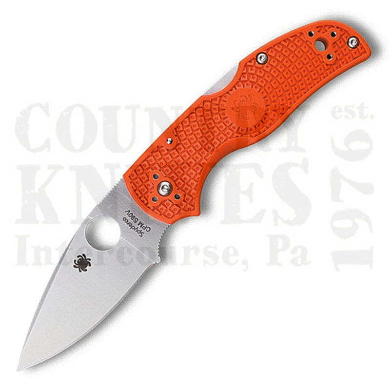 Buy Spyderco  C41POR5 Native5 - Orange FRN / CPM S90V at Country Knives.
