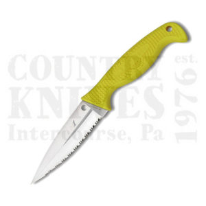 Buy Spyderco  FB40SYL Fish Hunter - YELLOW / H1 / SpyderEdge at Country Knives.