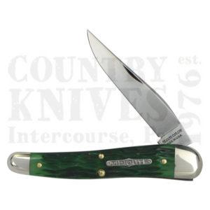Buy Great Eastern Tidioute GE-381117GB Dogleg Jack - Green Bone at Country Knives.