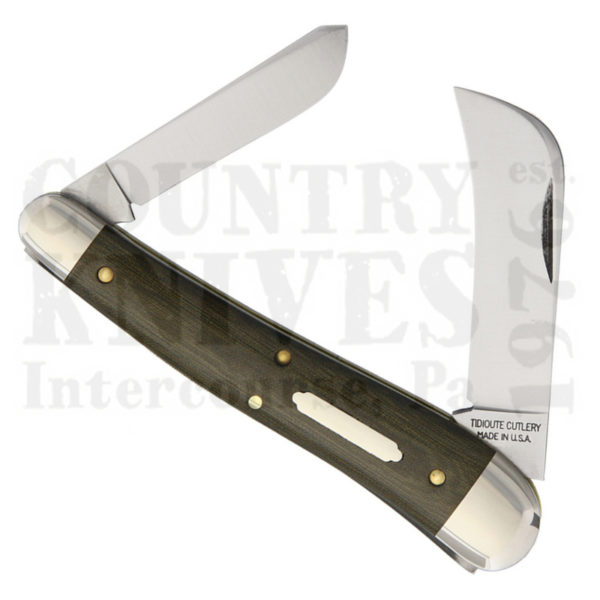 Buy Great Eastern Tidioute GE-383215 John Chapman Pruner, Olive Micarta at Country Knives.