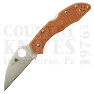 Buy Spyderco  C11FPWCBORE Wharncliffe Delica4, ORANGE FRN / HAP40/SUS 410 at Country Knives.