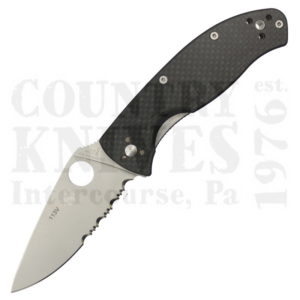 Buy Spyderco  C122CFPS Tenacious - Carbon Fiber / CombinationEdge at Country Knives.