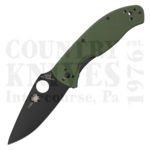 Buy Spyderco  C122GPBGR Tenacious - Green G-10 / TiN / PlainEdge at Country Knives.