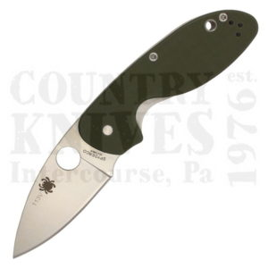 Buy Spyderco  C216GPGR Efficient, PlainEdge / Green G-10 at Country Knives.