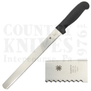 Buy Spyderco  K01SBK Bread Knife, BLACK / SpyderEdge at Country Knives.