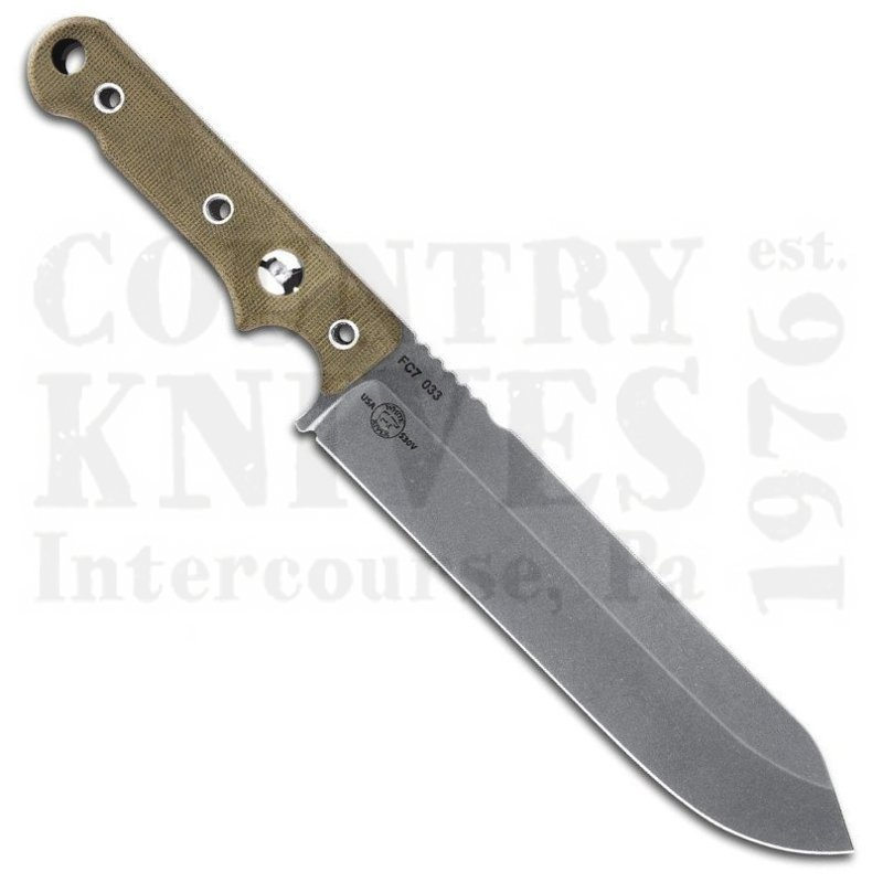 Buy White River Knife & Tool  WRFC7-LS Firecraft FC7 - S35VN  / Micarta / Leather at Country Knives.