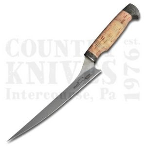 Buy White River Knife & Tool  WRSUF8-CRK 8½'' Step-Up Fillet Knife, 440C / Cork / Leather at Country Knives.