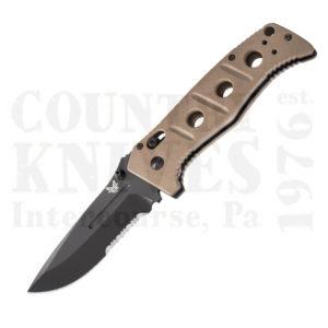 Buy Benchmade  BM275SBKSN Adamas - Desert Sand G-10 / ComboEdge at Country Knives.